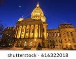 springfield  illinois  ... | Shutterstock . vector #616322018