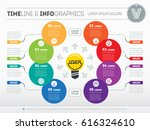 business concept with 8 options ... | Shutterstock .eps vector #616324610