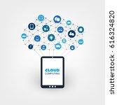 cloud computing design concept... | Shutterstock .eps vector #616324820