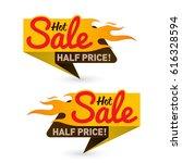 hot sale price offer deal...   Shutterstock .eps vector #616328594