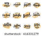 pastry and bread logotypes set...   Shutterstock .eps vector #616331279