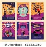 music entertainment and karaoke ... | Shutterstock .eps vector #616331360