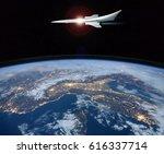 the concept of a futuristic...   Shutterstock . vector #616337714