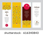vector ornate vertical cards in ...   Shutterstock .eps vector #616340843