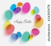 happy easter illustration.... | Shutterstock .eps vector #616345478