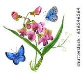watercolor hand painted sweet... | Shutterstock . vector #616346264