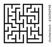 maze game background. labyrinth ... | Shutterstock .eps vector #616346948