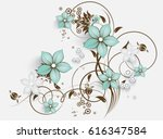 Stock vector abstract floral background for design 616347584