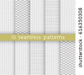 10 vector seamless patterns.... | Shutterstock .eps vector #616350308