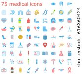 set of medical icons.... | Shutterstock .eps vector #616360424
