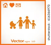 flat icon family.  | Shutterstock .eps vector #616366970