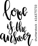 vector love is the answer... | Shutterstock .eps vector #616375733