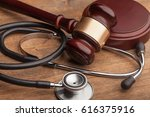 stethoscope and judgement... | Shutterstock . vector #616375916
