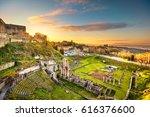 volterra  roman theatre ruins... | Shutterstock . vector #616376600