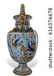 maiolica vase urn renaissance... | Shutterstock . vector #616376678