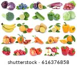 fruits and vegetables... | Shutterstock . vector #616376858