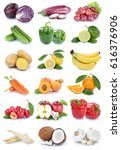 fruits and vegetables... | Shutterstock . vector #616376906