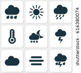 Climate Icons Set. Collection...