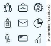 job outline icons set.... | Shutterstock .eps vector #616381460