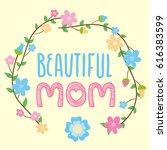 happy mother s day    Shutterstock .eps vector #616383599