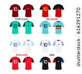 kits collection for 4 football... | Shutterstock .eps vector #616391270