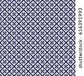 seamless porcelain indigo blue... | Shutterstock .eps vector #616391993