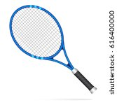 blue tennis racket  | Shutterstock .eps vector #616400000