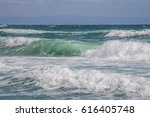 crashing waves  | Shutterstock . vector #616405748