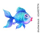 cartoon watercolor colorful... | Shutterstock . vector #616407974