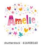 amelie french feminine given... | Shutterstock .eps vector #616408160