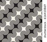 seamless wavy lines pattern.... | Shutterstock .eps vector #616410869