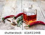 natural oils concept with fresh ... | Shutterstock . vector #616411448