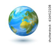 vector hand drawn planet earth... | Shutterstock .eps vector #616412108