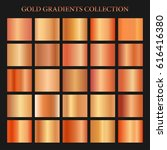 red gold gradient collection... | Shutterstock .eps vector #616416380