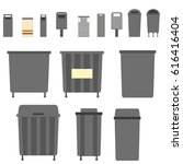 waste can of garbage types.... | Shutterstock .eps vector #616416404
