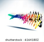concept airplane travel... | Shutterstock .eps vector #61641802