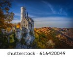 castle in fall  | Shutterstock . vector #616420049