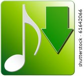 music note icon download   eco... | Shutterstock . vector #61642066