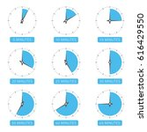 clock face with different time. ... | Shutterstock .eps vector #616429550
