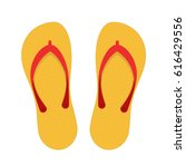 Beach Slippers Icon Isolated On ...