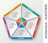 vector abstract 3d paper... | Shutterstock .eps vector #616437800