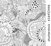 tracery seamless pattern.... | Shutterstock .eps vector #616452446
