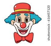 Cartoon Clown Face Vector...