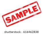 sample stamp on white