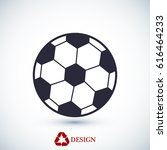 classic soccer ball icon ... | Shutterstock .eps vector #616464233