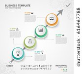 abstract infographics number... | Shutterstock .eps vector #616467788