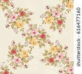 seamless floral pattern with...   Shutterstock .eps vector #616477160