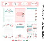 template for notebook paper ... | Shutterstock .eps vector #616479863