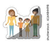 family people together with... | Shutterstock .eps vector #616484498