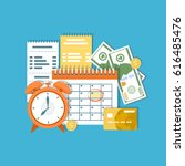tax payment day concept. income ... | Shutterstock .eps vector #616485476